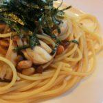 納豆ときのこスパゲッティ