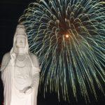 仙台大観音と花火 2011